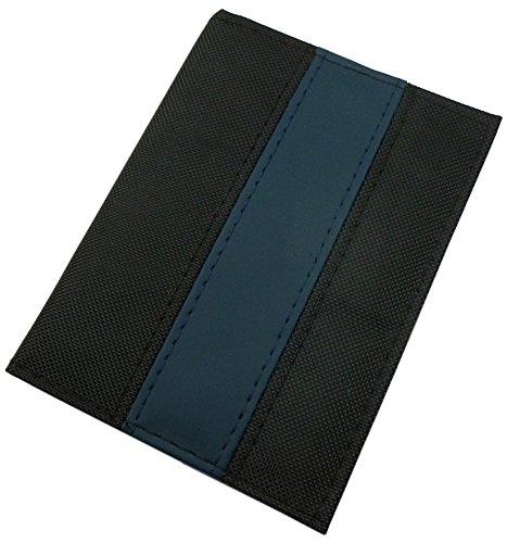 Porta carte d'identità e carte di credito con 6 scomparti in diversi colori (Nero/Blu)