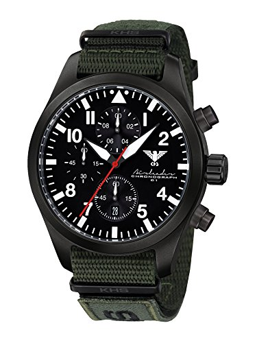 KHS Mens Watch Analogue Quartz with Nylon Wrist Band KHS.AIRBSC.NXTO1