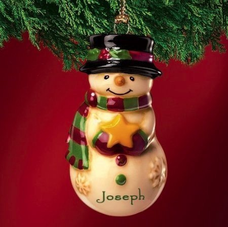 Schneemann - Weihnachtsdekoration - Geschenk Ornament - Oliver ()