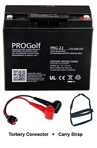 Pro Golf PRG-22 ProGolf Golf Trolley Batterie 22Ah with Torberry Lead