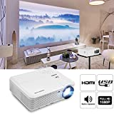 Video Projector 1080P Home Theater, 2019 Upgraded 4500 Lumen LED Wxga Outdoor Movie