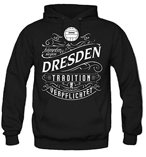 Mein leben Dresden Kapuzenpullover   Freizeit   Hobby   Sport   Sprüche   Fussball   Stadt   Männer   Herren   Fan   M1 Front (XXL)