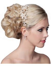 SEXYHER Herrliches Haar-Kamm mit Perlen und Kristallen - SH-DL-H0446