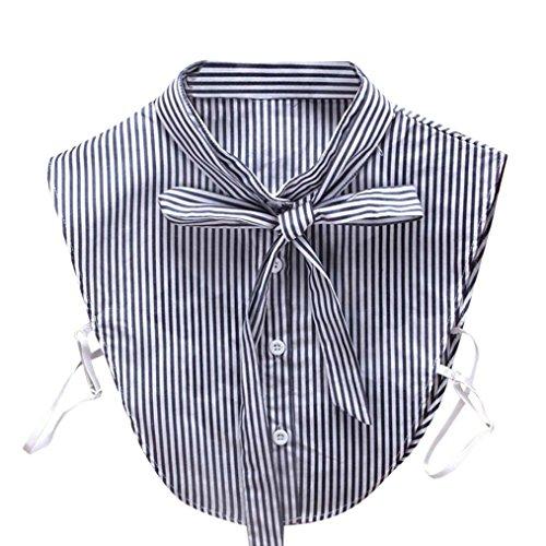 TUDUZ Damen Frauen Vintage Choker Halskette abnehmbare Revers Shirt gefälschte falsche Kragen (L) (Kragen)