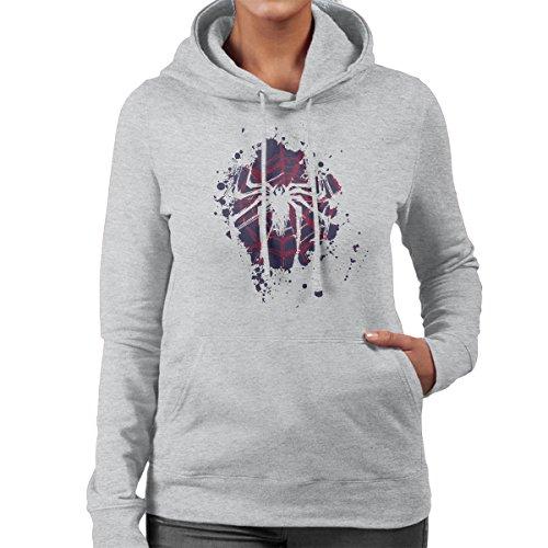 The Spider Spiderman Blue Version Women's Hooded Sweatshirt Heather Grey