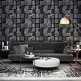ZHAORLL Graue weiße Schwarze tapete Wohnzimmer Studie bekleidungsgeschäft Cafe KTV Hotel Hintergrund tapeten 0,53 mt * 10 mt,A
