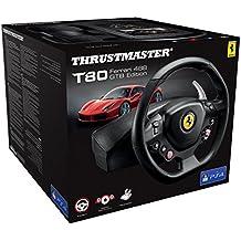 Thrustmaster T80 Ferrari 488 - GTB Edition Volante e  Pedaliera regolabile, PlayStation 4