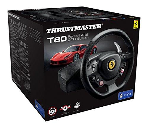 Thrustmaster T80 Ferrari 488 GTB Edition (Lenkrad inkl. 2-Pedalset, PS4 / PC)