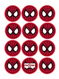 40 x Pre Spiderman Kuchen, Cupcake Topper/Dekoration Essbar Wafer Papier