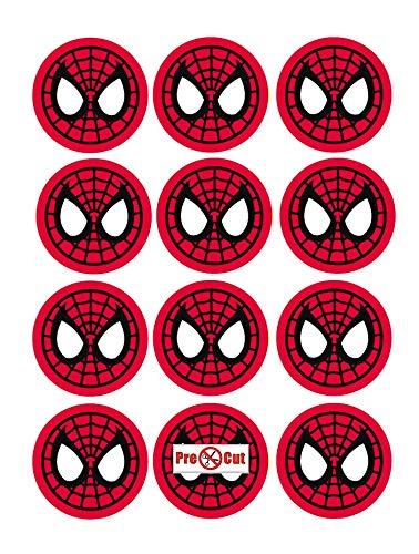 35 x Pre Spiderman Kuchen, Cupcake Topper/Dekoration Essbar Wafer Papier