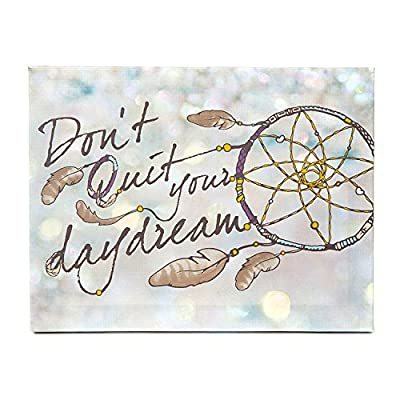 Icing Girls and Womens Don't Quit Your Daydream Wall Canvas in Cream - low-cost UK light shop.