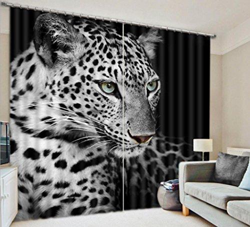 GFYWZ 3D Tier bedruckte Stoffe personalisierte Dekoration Vorhang Dicke Zimmer Fenster drapiert , 1 , wide 2.03x high 1.6 (Shorts Pleated Cotton)