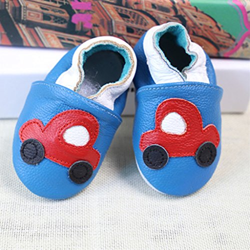 GWELL Weiche Leder Babyschuhe Lauflernschuhe Krabbelschuhe Lederpuschen für Mädchen 18-24 Monate Art-E B
