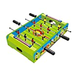 #6: Toyshine Mid-Sized Foosball, Mini Football, Table Soccer Game, 4 Rods, 20 inches