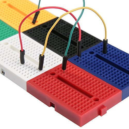 REES52 6PCS 170 tie-points Mini Breadboard kit for Arduino