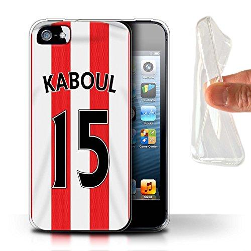 Offiziell Sunderland AFC Hülle / Gel TPU Case für Apple iPhone SE / Kaboul Muster / SAFC Trikot Home 15/16 Kollektion Kaboul