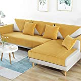 SHUQICC Waterproof Pet Sofa Cover for Dogs, Non-Slip Protector for Sofas Furniture Protector Sectional Sofa Cover for Leather Sofa (color : Amarillo, Size : 70x210cm(28x83inch))