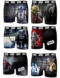 Lot 6 Boxers Niños Star Wars