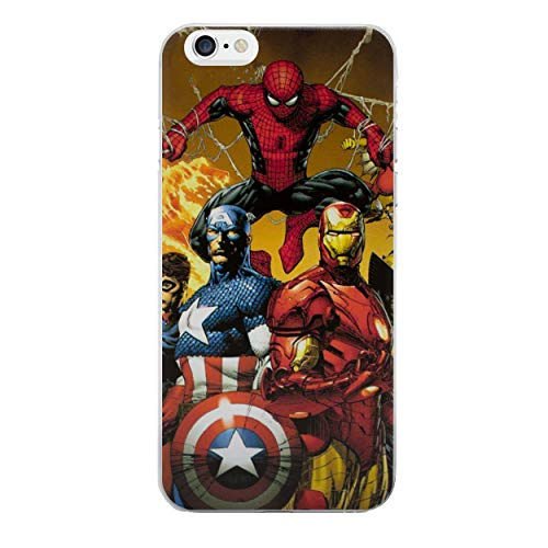 Iphone 6/6s comico telefono caso / copertura per apple iphone 6s 6 / protezione dello schermo e panno / ichoose / uomo ragno, cpt america, iron man