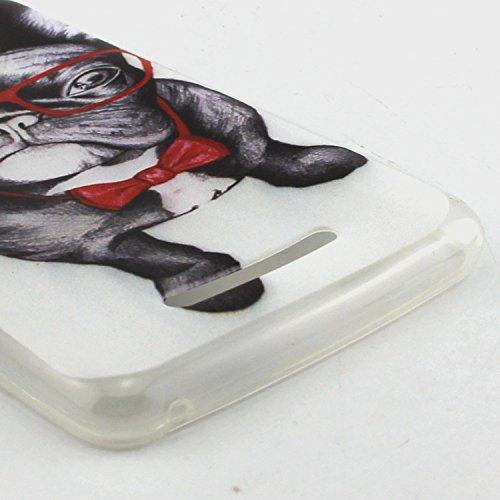 ANNN® Étui transparent en TPU silicone pour Wiko Lenny 2 Souple Housse de Protection Flexible Soft Case Cas Couverture Anti Choc Mince Légère Silicone Cover avec Quill stylet + Pendentif poisson--A03 A09