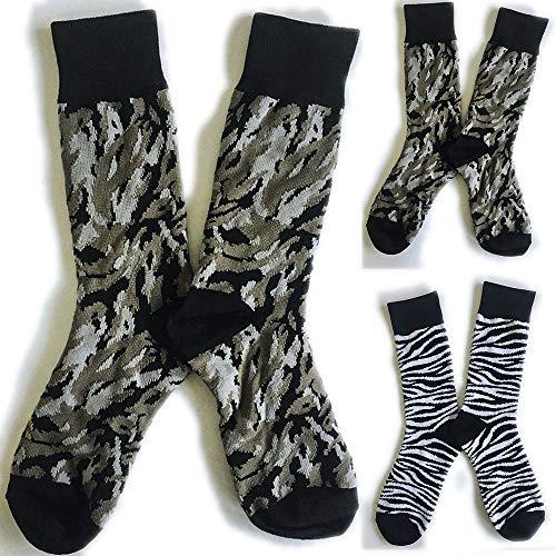 (LCLrute 2 in 1 Autumn Winter Personality Unisex Socks Cotton Leopard Print Neutral Color Socken Lustige Damen Marke In Rohr Socken)