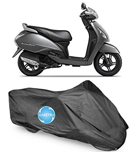 Digitru DG00000029 Black Motorcycle Body Cover for TVS Jupiter