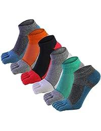 daa95d6de5 AIEOE 6 Paar Männer Fünf Finger Zehensocken Baumwolle Sneaker Socken Kurz  Atmungsaktiv Sportsocken Laufsocken