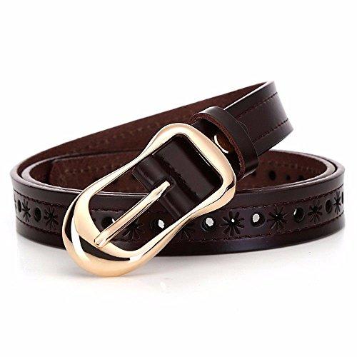 5450feed879180 LONFENN Cinturón Ahuecado De Las Mujeres, Cinturón En Relieve, Cinturón De  Salón, Cinturón