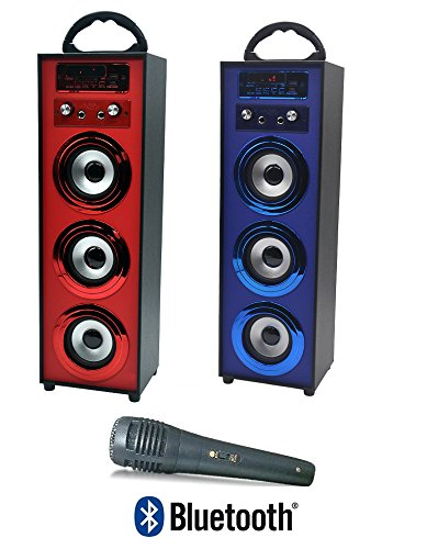ALTAVOZ PORTATIL 3 ALTAVOCES BLUETOOTH USB RADIO FM KARAOKE.
