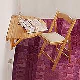 Ailjcz ailj Hängender Wandtisch, Wandklapptisch Aus Massivem Holz, Esstisch, Wandtisch, Wandtisch, Wandtisch, Halbrunder Wandtisch, Schreibtisch, Wandtisch (Farbe : Wood Grain)