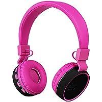 Votones Bluetooth Headphones for Kids Adjustable Wired/Wireless Headset With Build-in Mic Children Boys Girls Earphones for Smartphones PC Music Gaming Kids Headphones (Pink)