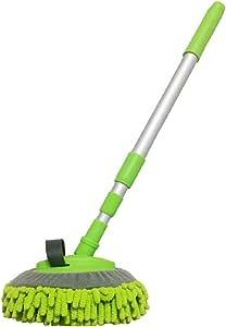 Jiner Waschbürste Mit Teleskopstiel Microfaser Chenille Flexible Griff Auto Clean Wash Mop Sport Freizeit