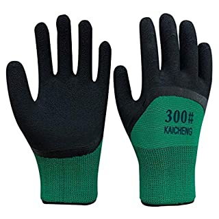 Zfggd 12 Pairs Green Black Nitrile Coated Nylon Safety Work Garden Gloves Builders Mens Gardening Safety Work Gloves