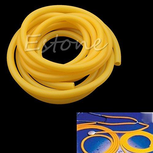 Kofun 3Meter elastisch natur Latex Gummi Band für Slingshot Katapult Chirurgischer Tube 6x 9mm gelb