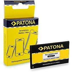 PATONA Li-ION Batterie 5030 avec 1900mAh pour Wiko Lenny, Lenny 2, Lenny 3 | qualité sûre et certifiée