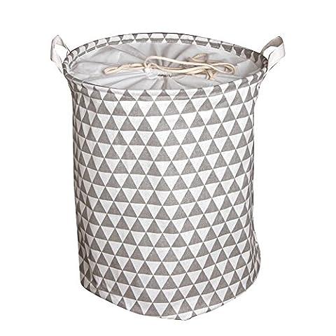 Yiuswoy Wäschekorb Wäschebehälter aus Baumwolle Wäschetonne Wäschebox Klapp Kinder Aufbewahrung Spielzeug Wasserdicht Aufbewahrungstasche - Graue
