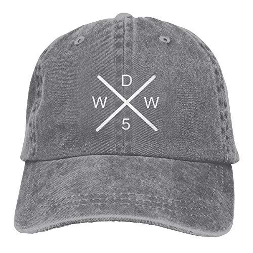 Fashion Why_Don't_Only_We Unisex Vintage Jeans Baseballmütze verstellbar Casquette Baumwolle Denim Cap Trucker Hut Sonne Schwarz One Size grau Blank Trucker Hats