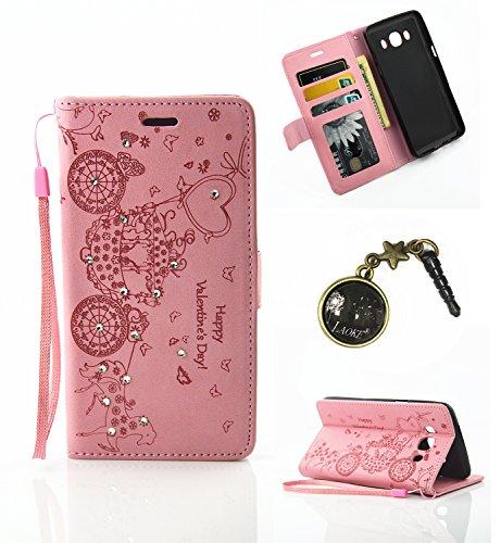 Preisvergleich Produktbild PU Silikon Schutzhülle Handyhülle Painted pc case cover hülle Handy-Fall-Haut Shell Abdeckungen für Smartphone Samsung Galaxy J3 (2016) 5,0 Zoll) +Staubstecker(5PP)