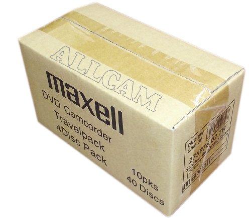 Maxell Mini DVD+RW wiederbeschreibbare Medien in Slim Case (40 Scheiben von 8cm DVD+RW) für DVD Camcorder oder allgemeine Datenspeicherung