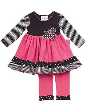Rare Editions Kinder Mädchen Tunika Kleid + Leggings Hose Schmetterling pink schwarz weiß Baby 92