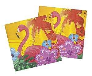 Boland- Flamingo Hibiscus - Servilletas, Multicolor, estándar, 52521