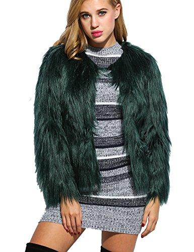 CRAVOG Damen Mantel Gr. XL, Short Green