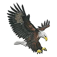 Iron on Patches - Eagle Bird is Flying - Brown - 6,3x5,5cm - Application Embroided Patch Badges