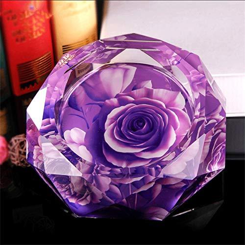 GLP Luxus Kristall Aschenbecher Kreative Persönlichkeit Trend Multifunktionale Nette Schlafzimmer Wohnzimmer Europäischen Glas Aschenbecher Groß, um Männer Geschenk zu Senden (Größe : 20cm)