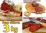 Offerta 3kg di Salumi: 1kg nduja, 1kg salsiccia 1kg soppressata dalla Calabria