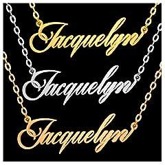 Idea Regalo - ABIsedrin Collana Personalizzata - Collana con Nome in Argento Sterling 925 - Collana Donna Uomo Happiness Boutique Collana Collana Amicizia