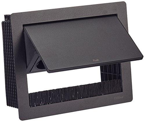 Preisvergleich Produktbild Schulte EVOline Flip Top Push S 3x Schuko, 1 Stück, schwarz, 1593 7010 1800