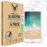 iSOUL [4 Stück] Panzerglas Displayschutzfolie für iPhone 6s / iPhone 6 / iPhone 7 / iPhone 8 Schutzfolie 9h HD, Panzerfolie 4,7 Zoll, Panzerglasfolie, Kratzfest, Blasenfrei