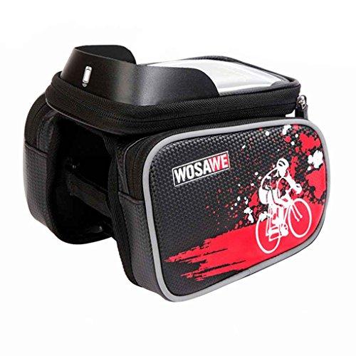 LUFA Wasserdichte Fahrrad Top Tube Tasche Telefon Tasche Large Capacity Reflective Design Schwarz Blau