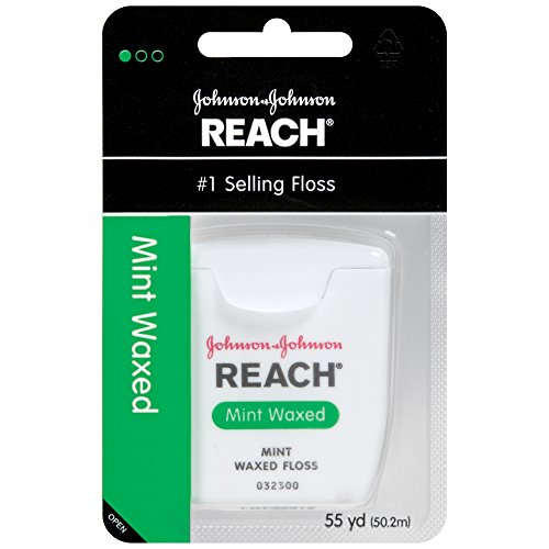 Reach Mint Waxed Dental Floss, 55 Yards by Johnson & Johnson Reach  available at amazon for Rs.503